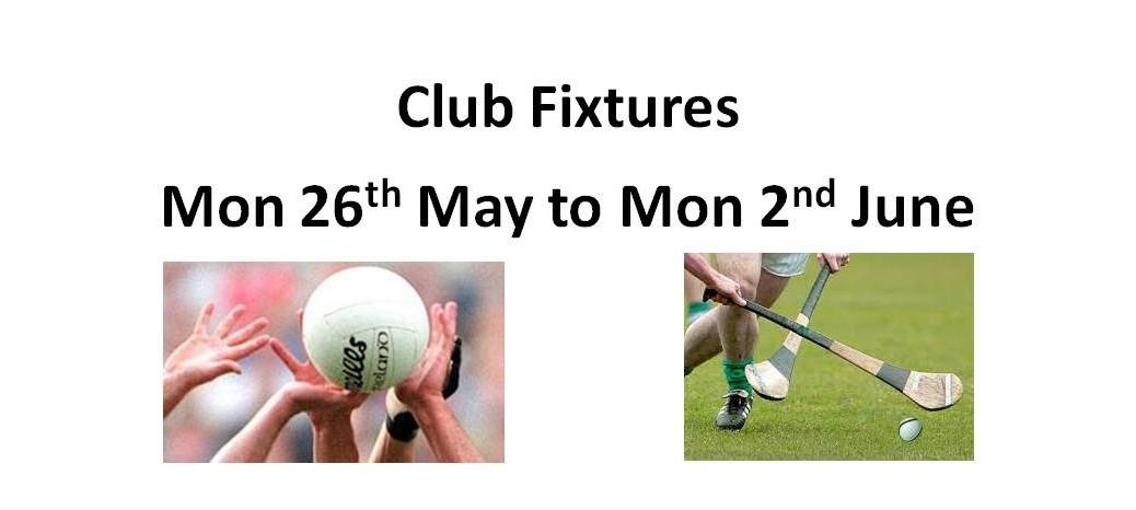 This week's Fixtures