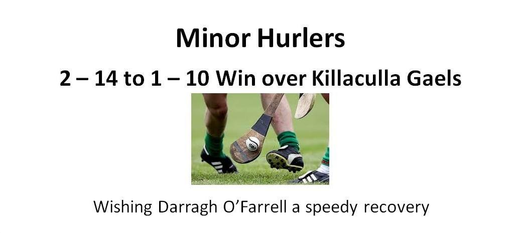 Minor hurlers season back on track