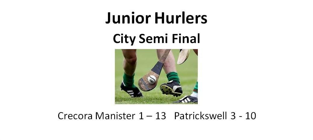 Juniors - semi final outcome