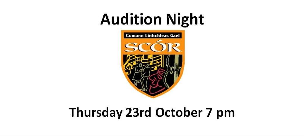 Scor - local parish audition night