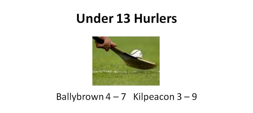 u13 hurlers
