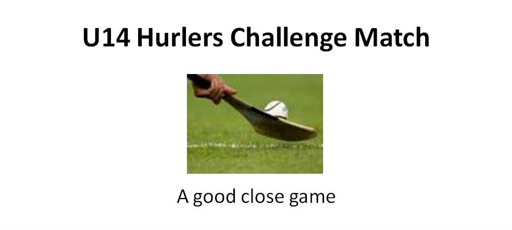 U14 hurlers match report
