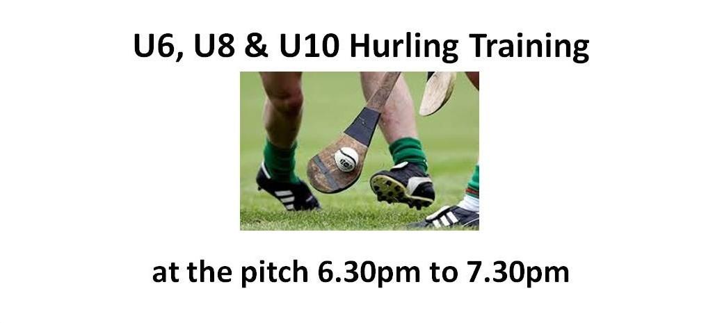 U6 U8 U10 hurling at pitch