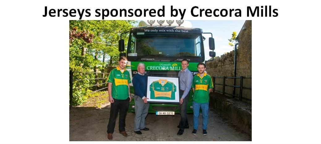 Crecora Mills Jersey sponsorship