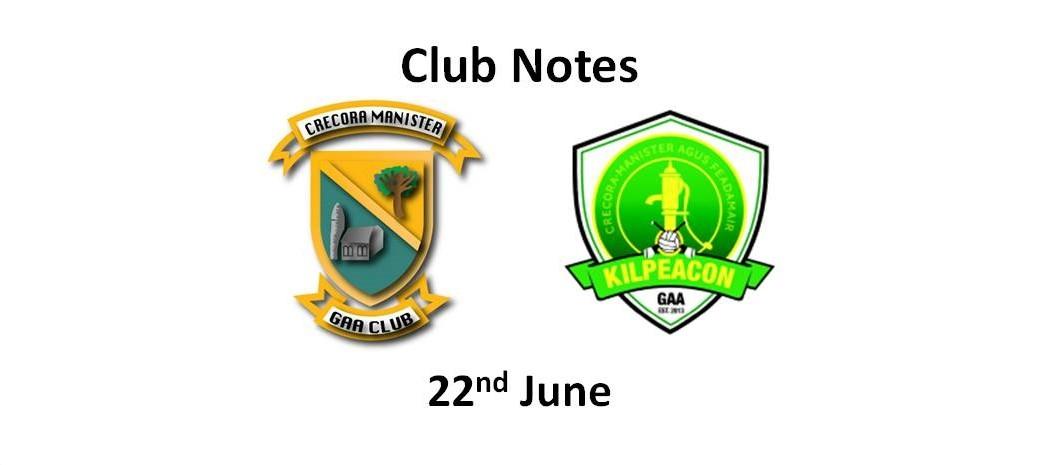 Club Notes 22 June