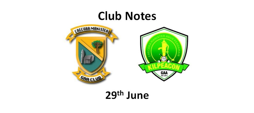 Club Notes 29 June