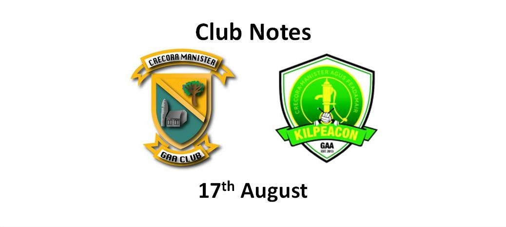Club Notes 17 Aug