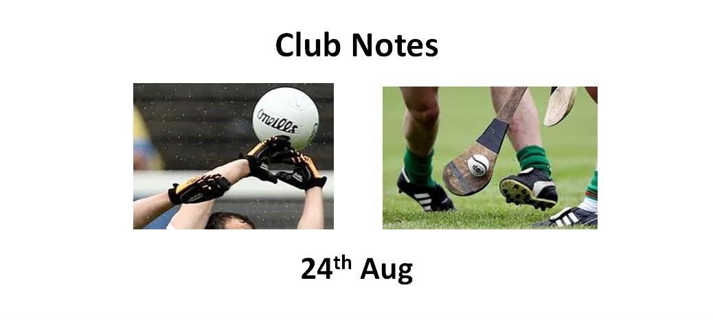 Club Notes 24th Aug
