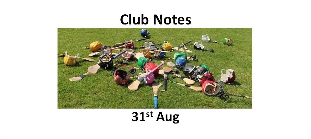 Club Notes 31st Aug