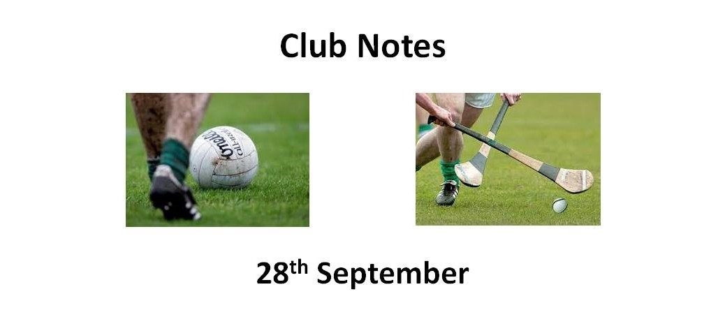 Club Notes 28th Sept