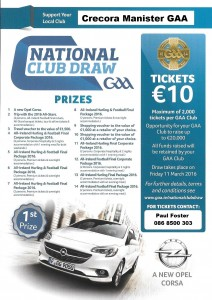 National Club Draw 2016 - Poster - A5 v3