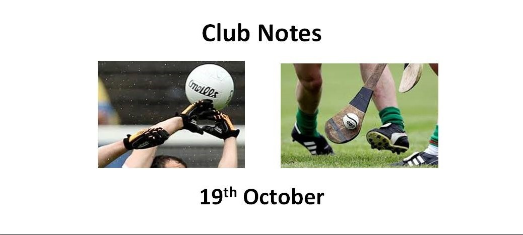 Club Notes 19th October