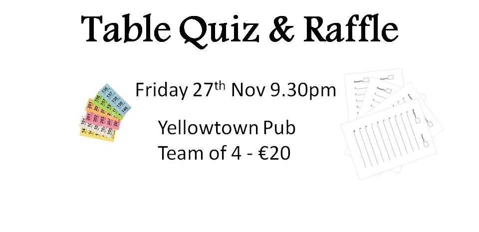 November Table Quiz 2015