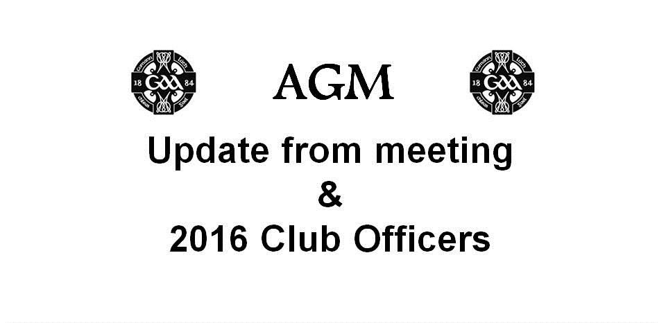 AGM outcome 2015