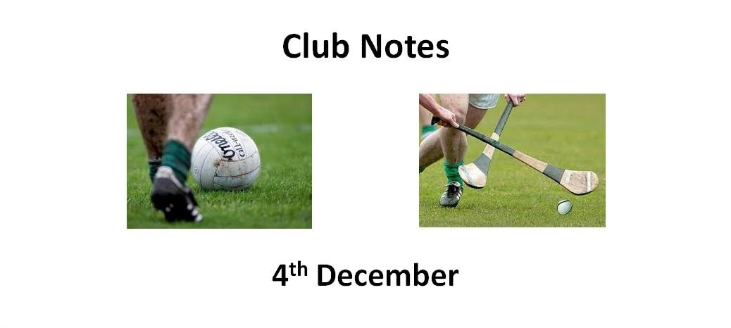 Club Notes 4th Dec