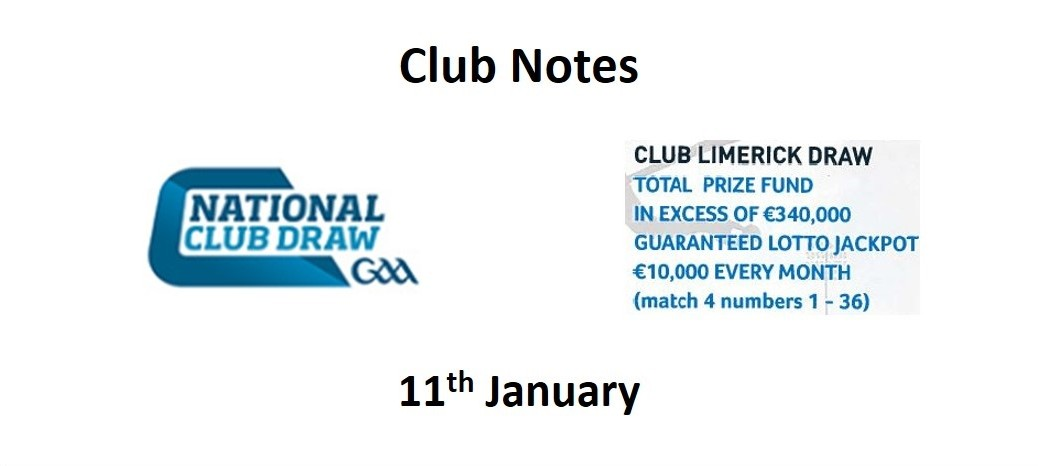 Club Notes 11th Jan