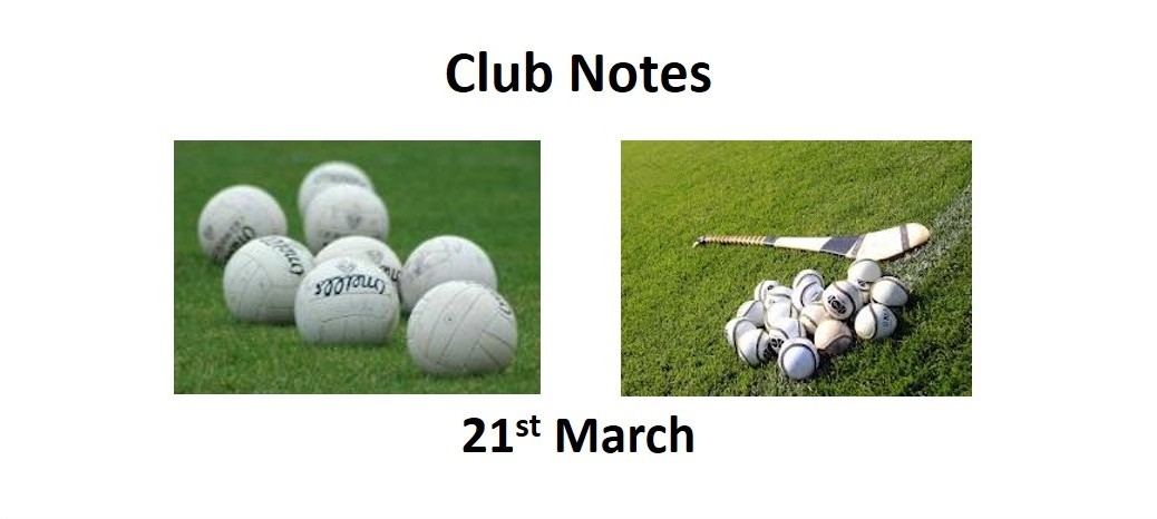 Club Notes 21st March