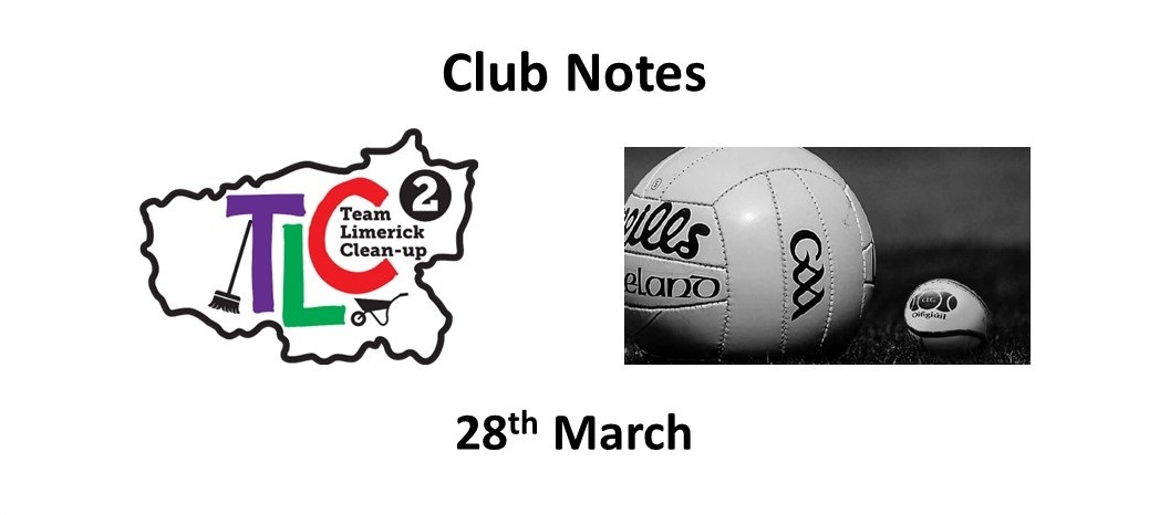 Club Notes 28th March