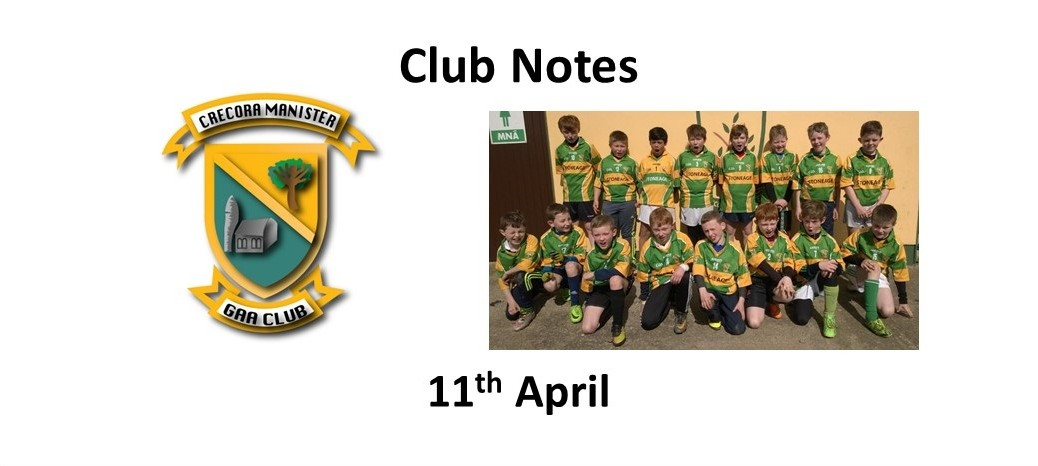 Club Notes 11 April