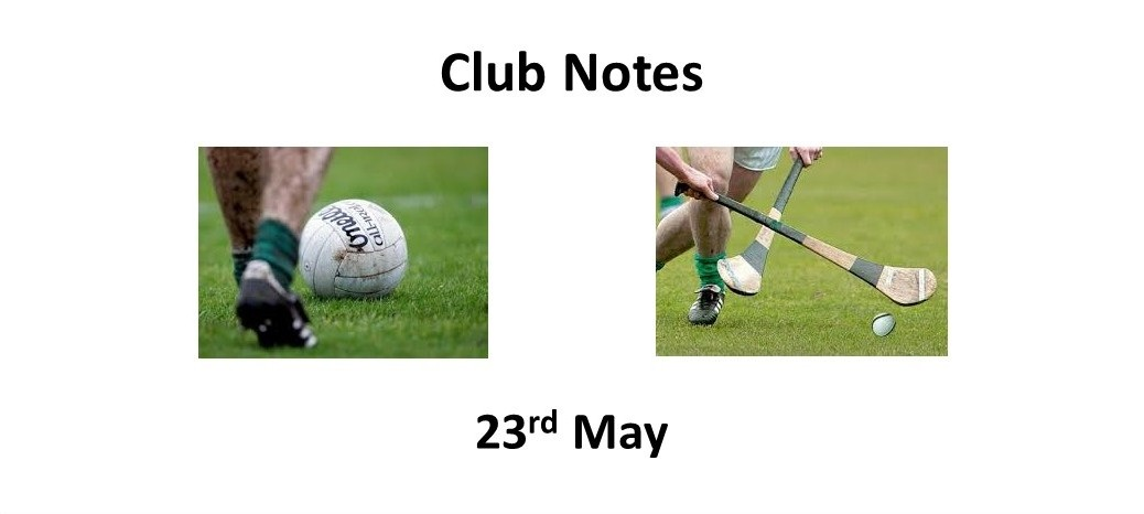 Club Notes 23rd May