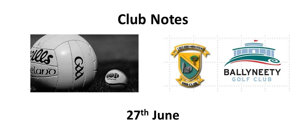 Club Notes 27 June