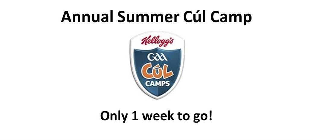 Cul Camp 2016 - 1 week to go
