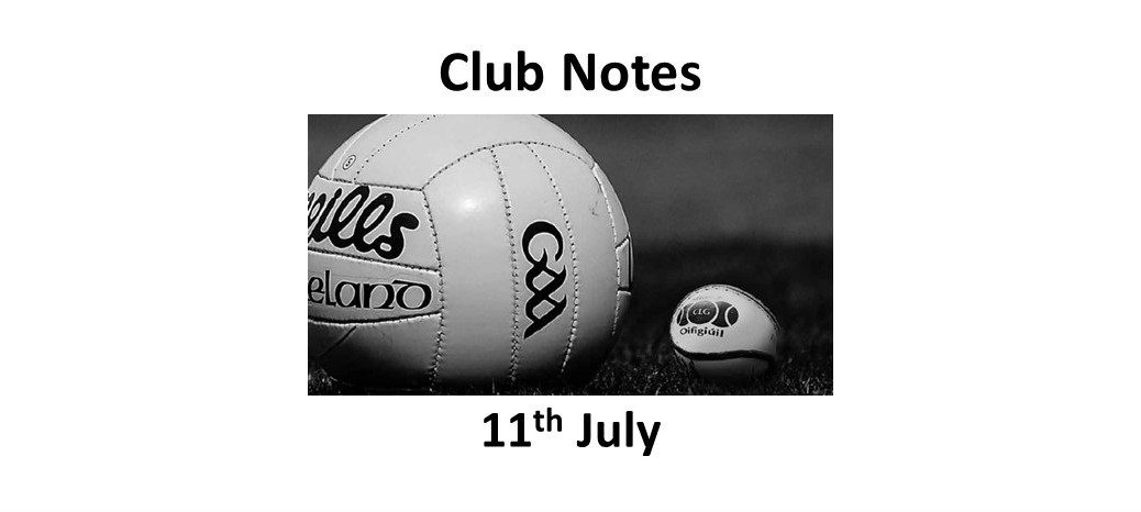 Club Notes 11 July