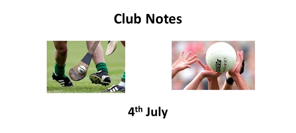 Club Notes 4 July
