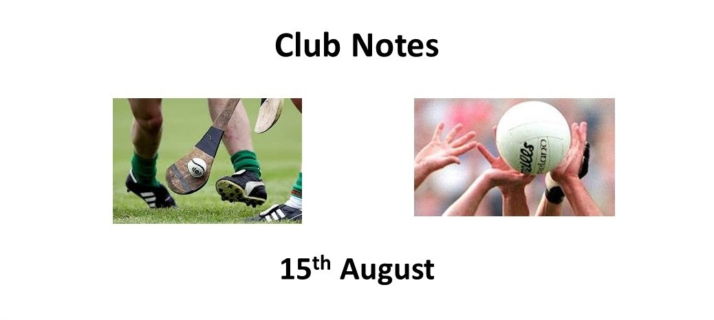 Club Notes 15 Aug