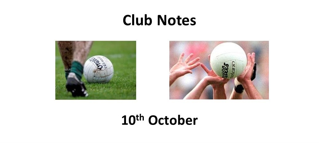 Club Notes 10th October
