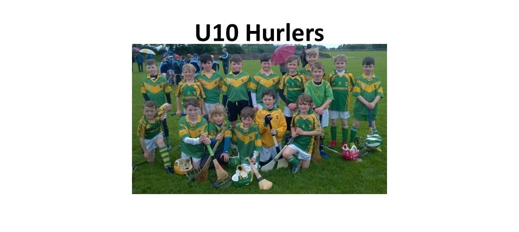 U10 hurlers june 9th