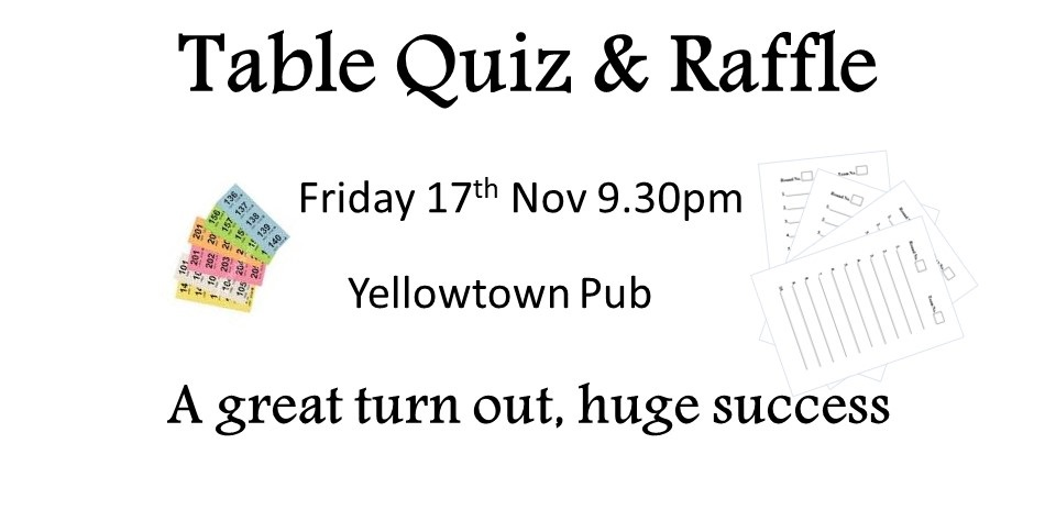 November Table Quiz 2017 - afterwards