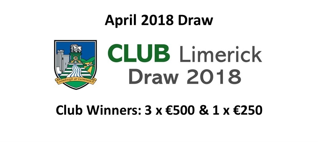 April 2018 Draw Winners