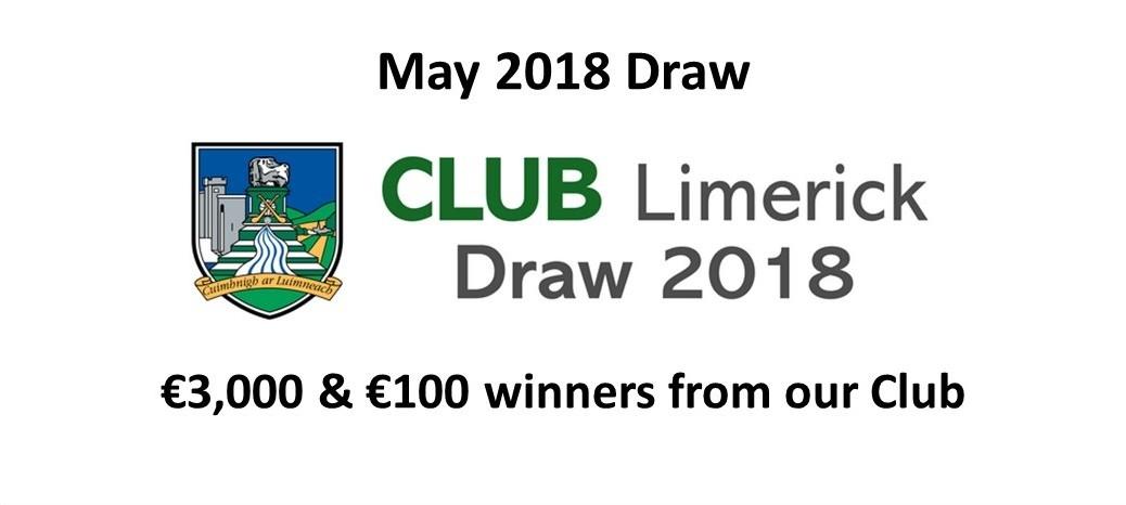 Club Draw May 2018