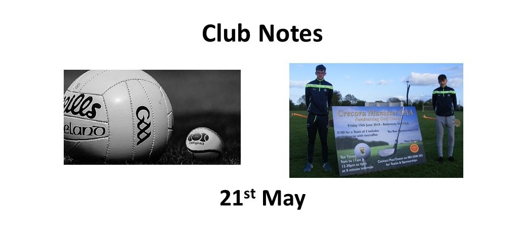 Club notes 21st May