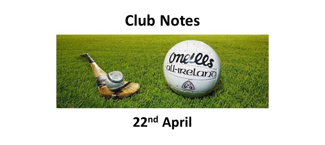 Club Notes 22 Apr 19