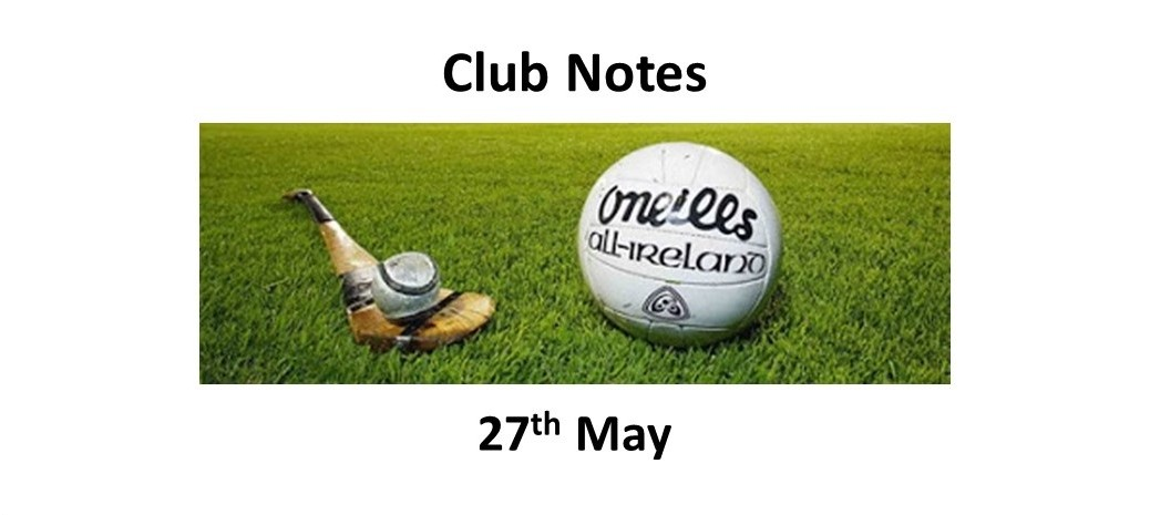 Club Notes 27 May 19