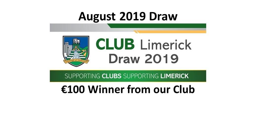 Club Draw August 2019