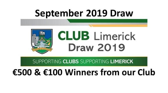 Club Draw September 2019
