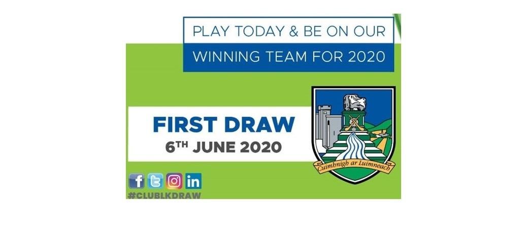 Club Draw January 2020 - June Draw