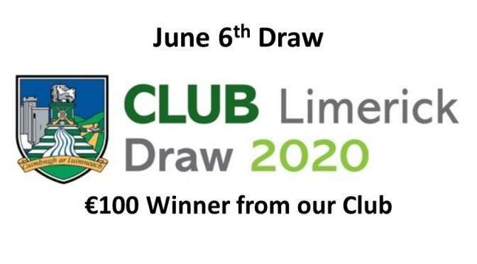 Club Draw June 6th 2020