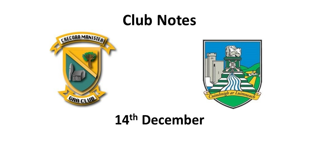 Club Notes 14th December