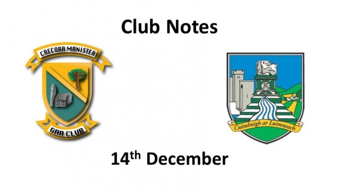 Club Notes 14th December