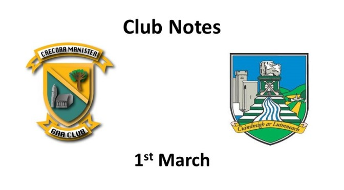 Club Notes 1st March 2021